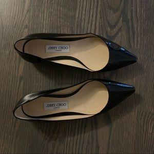 Jimmy Choo Black Patent Leather Flats